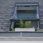 clear glass window in roof open